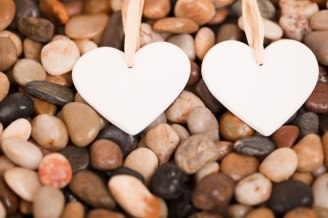 pebble hearts