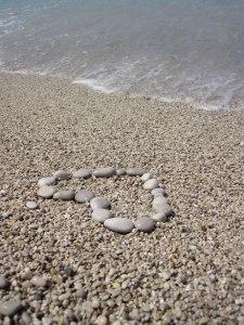 pebbles in heart