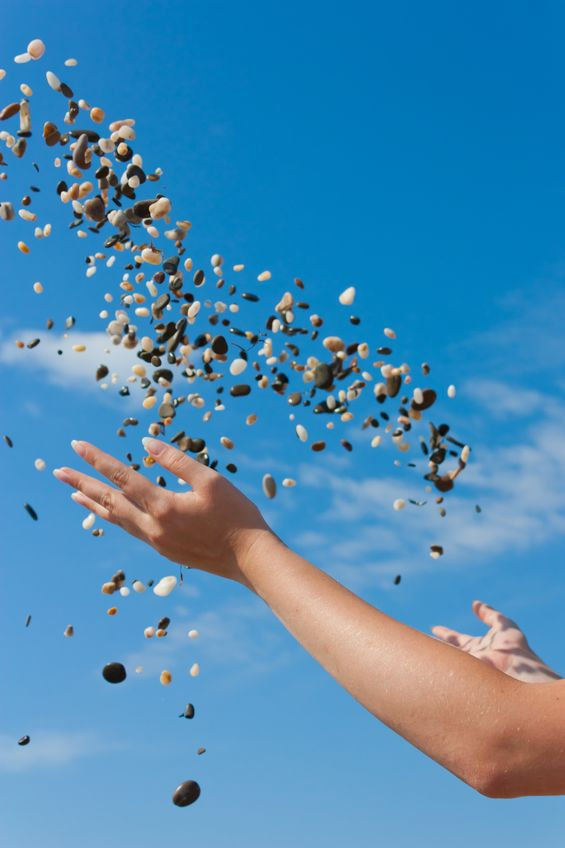 pebbles in sky